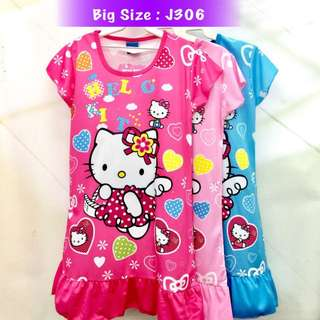 Buy 3 @ RM33 ❤Bargain Sale❤ Hello Kitty Jersey Dress J306