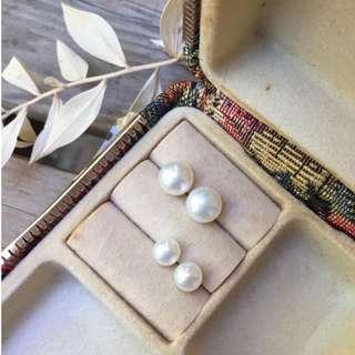 Skin&Moss Vintage新品百搭款淡水珍珠純銀耳針訂製款嚴選輕珠寶經典永恆搭配珍珠耳環