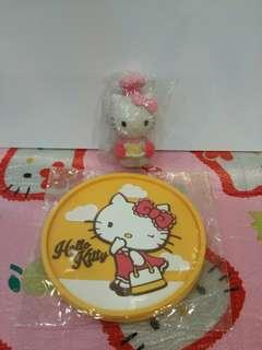 Kitty coaster & figure set