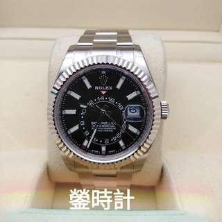 全新現貨 全錶原裝膠紙未撕 未改錶帶 確保全新未用品  Rolex 326934 天行者 年曆錶 黑面  全套齊