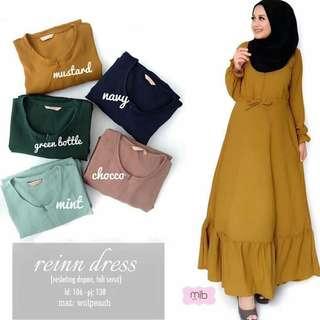 MF - 0418 - Dress Gamis Busana Muslim Wanita Reinn