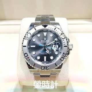 Rolex 116622 帆船YM 灰面藍針  全套齊 99.9新 未用品 錶扣缺小膠紙