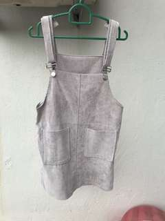 Pinafore grey dress