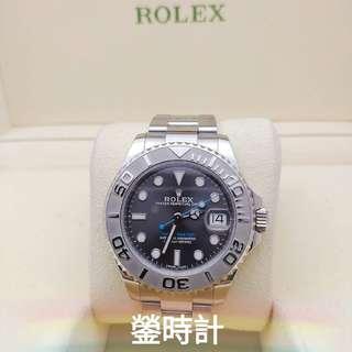 Rolex 268622 帆船YM 灰面藍針 37mm  全套齊 95%極新淨 行貨888