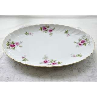 Vintage Fine China Oval Serving Platter 12 in. Romance By Lynmore