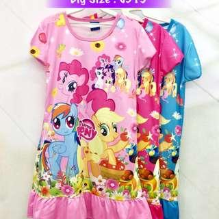 Buy 3 @ RM33 ❤Bargain Sale❤ My Little Pony Jersey Dress J315