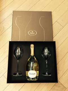 Ruinart Blanc de Blancs Gift Set with 2 Champagne glass