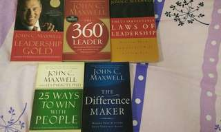 Pre loved John C. Maxwell Leadership Books