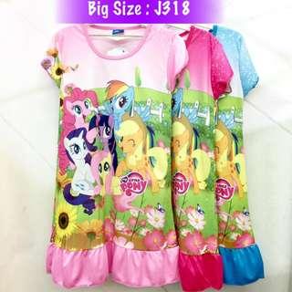 Buy 3 @ RM33 ❤Bargain Sale❤ My Little Pony Jersey Dress J318