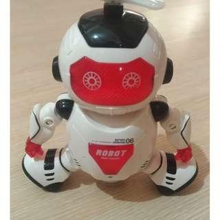 太空跳舞電動機器人 360度旋轉燈光音樂
