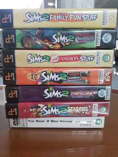 Perfectly intact Sims 2 Expansions