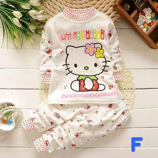 Toddler kids baby lovely pullover long sleeve top + long pant