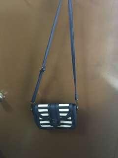 Blue small sling bag