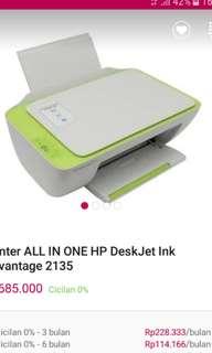 Printer HP all in 1 deskjet ink 2135