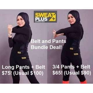 Bundle Deal - Sweat Plus Super Neo (Pants + Belt)