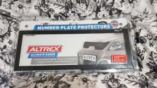 Brand new number plate protectors