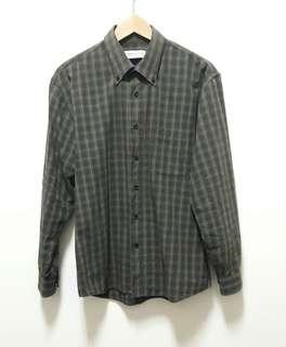 🚚 🔥 格子 格紋 長袖 襯衫 上衣 休閒 百搭 稀有 老品 古著 復古 Vintage