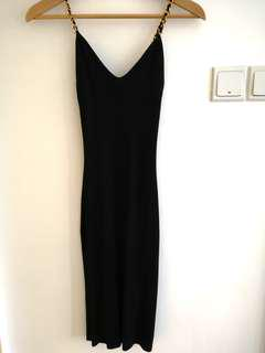 #blessing Free 🎁to bless sexy Black ribbed knit dress