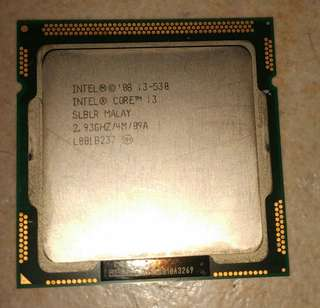Used intel i3-530 with free heatsink
