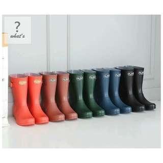 🚚 Korea 👡 正韓英倫風格中筒雨靴