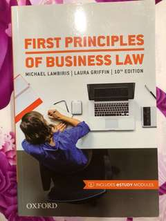 First principles of business law 10th edition