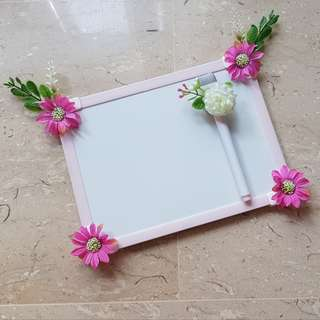 Classy Shrubbery Whiteboard and Marker with Magnets
