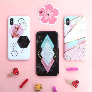 Hexagon Marble Case for Iphone&Oppo