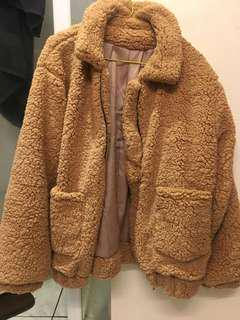 Teddy coat size m