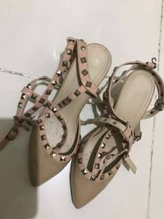 Valentino Inspired Heels in Nude Color