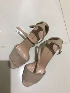 Primadonna Ankle Strap Style Heels in Nude Color