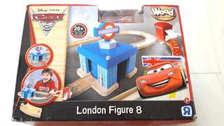 New Disney Cars London Figure 8 Wooden Play Set