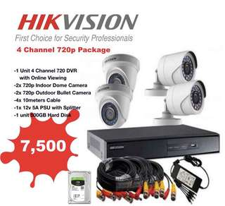 CCTV 4 Channel HD package