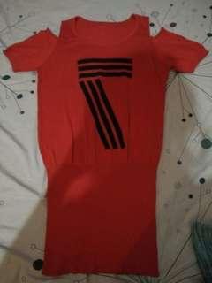Dress seven merah rajut