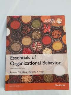 Essentials of Organizational Behavior Textbook
