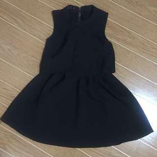 Black Mini Skirt Dress