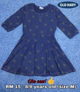 8/9 years old - Kids Cloth Shirt Dress Baby Girl