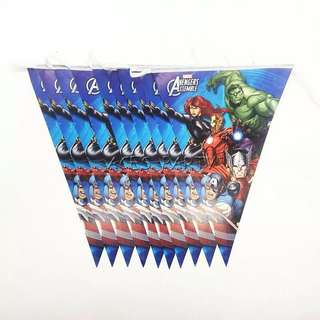 💥Superheroes Avengers party supplies - Avengers banner / bunting / party deco