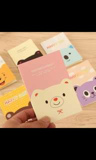 [P. O. ] Mini notebooks