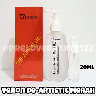 Venon de-artistic hair treatment merah 20 ml