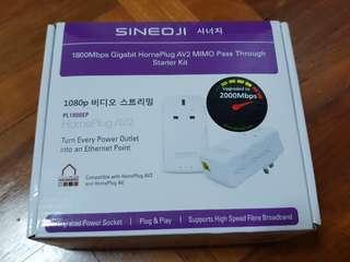 Sineoji PL1800EP 1800Mbps Gigabit Homeplug Powerline Adapter AV2