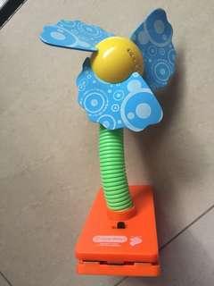 $3 Preloved lucky newborn infant baby Stroller pram battery operated Fan