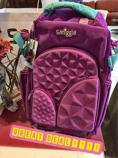 Smiggle premium hardtop backpack in purple