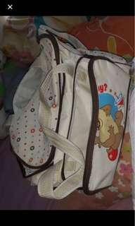 Playpen,comforter & baby bag