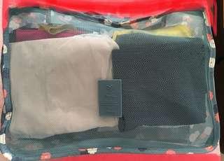 (全新)一套六件旅行袋套裝
