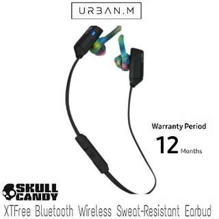 Skullcandy XTFree Bluetooth Wireless Sweat-Resistant Earbud with Microphone, Lightweight and Secure Fit (Black/Swirl)