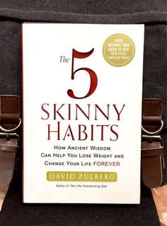 《Bran-New + Hardcover Edition + 5-Steps Weight-Loss-Plan And Keep It Off With These Ideas》David Zulberg - THE 5 SKINNY HABITS: How Ancient Wisdom Can Help You Lose Weight and Change Your Life FOREVER