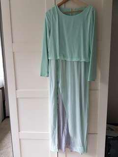 Zalia mint green drawstring dress size S #payday30