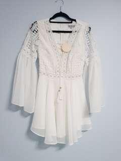 ALYSE white lace dress