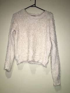 Revival cream fluffy jumper