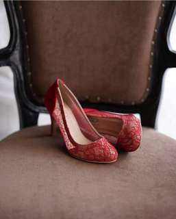 Ittaherl Red Maureen Pump Shoes